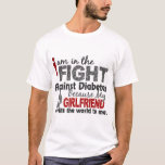 Girlfriend Means World To Me Diabetes T-Shirt