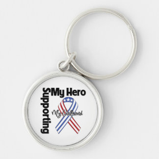 Girlfriend - Military Supporting My Hero Keychain