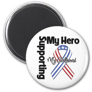 Girlfriend - Military Supporting My Hero 2 Inch Round Magnet