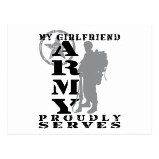 Girlfriend Proudly Serves - ARMY Postcard