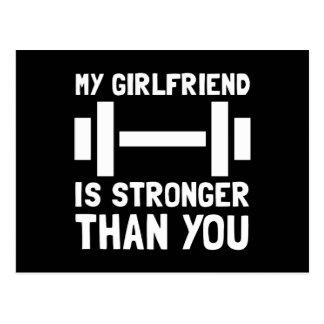 Girlfriend Stronger Postcard