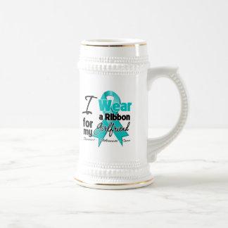 Girlfriend - Teal Awareness Ribbon Mug