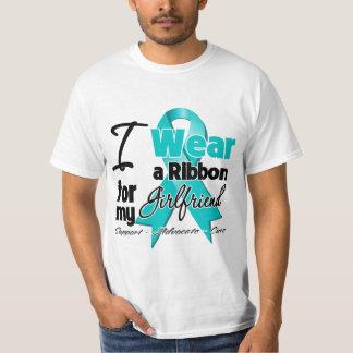 Girlfriend - Teal Awareness Ribbon Tee Shirt