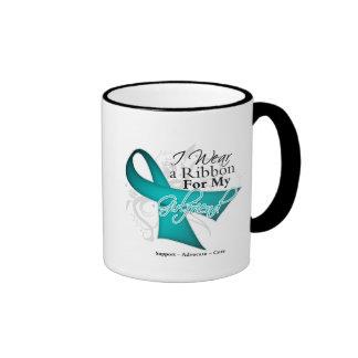 Girlfriend - Teal Ribbon Awareness Mugs