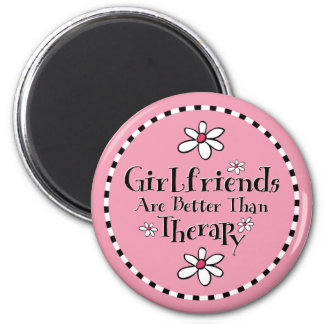 Girlfriend Therapy 2 Inch Round Magnet