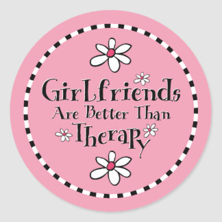 Girlfriend Therapy Classic Round Sticker