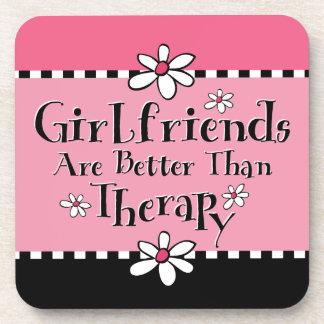 Girlfriend Therapy Cork Coaster