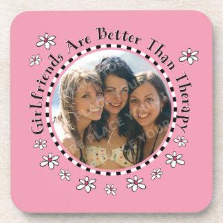 Girlfriend Therapy Photo Cork Coaster