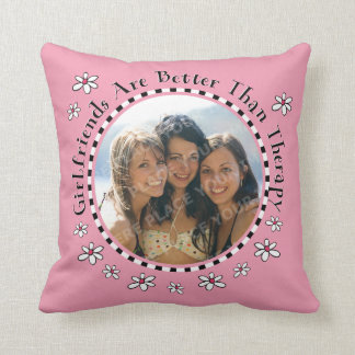Girlfriend Therapy Photo Throw Pillow