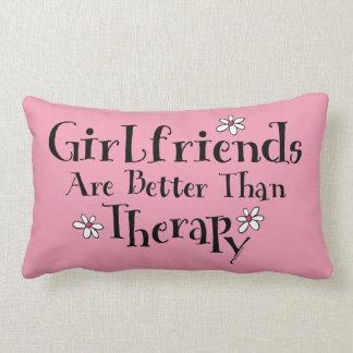 Girlfriend Therapy Throw Pillows