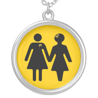 girlfriend x-ing icon silver plated necklace