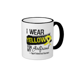 Girlfriend Yellow Ribbon Endometriosis Coffee Mugs