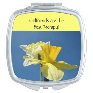Girlfriends are best therapy gifts compact mirrors