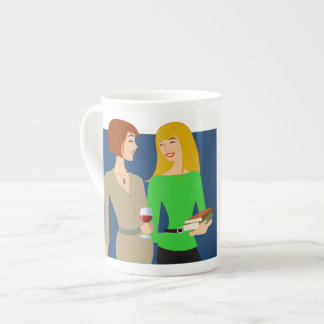 Girlfriends are essential tea cup