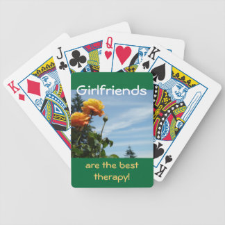 Girlfriends are the best therapy! playing cards