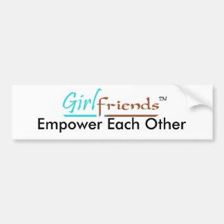 Girlfriends Basic Bumper Sticker