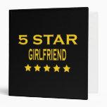 Girlfriends Birthdays Valentines 5 Star Girlfriend Vinyl Binders