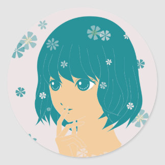 girlhood classic round sticker