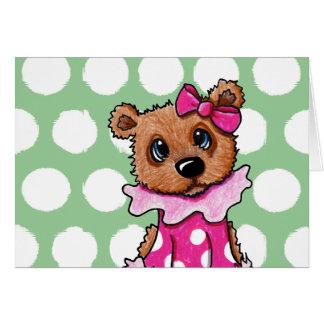 Girlie Bear Card