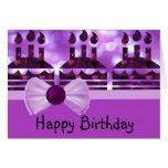 Girlie Bokeh Birthday Cake Gemstone Card