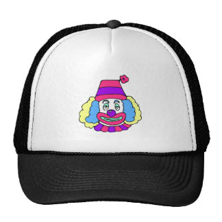 Girlie Clown with Curly Hair Trucker Hat