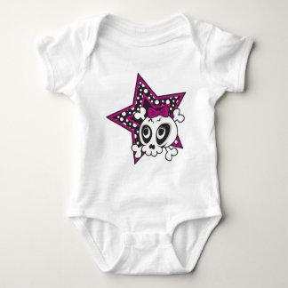 Girlie Emo Skull Baby Bodysuit