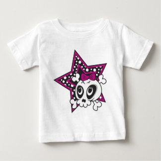 Girlie Emo Skull Baby T-Shirt