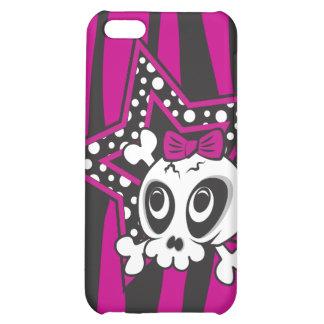 Girlie Emo Skull iPhone 5C Cover