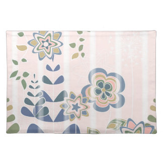 Girlie flowers placemat