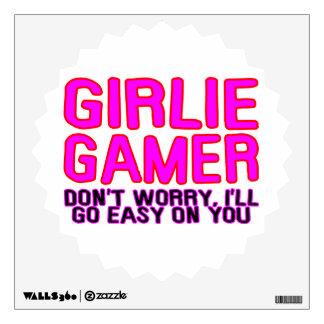 Girlie Gamer Going Easy Wall Skins