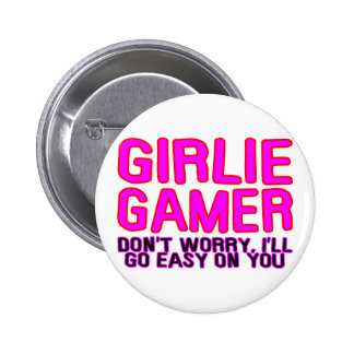 Girlie Gamer Pinback Button