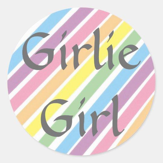 Girlie Girl Classic Round Sticker