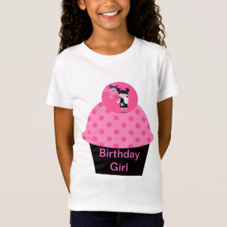 Girlie Goth Cupcake Birthday Girl T-Shirt