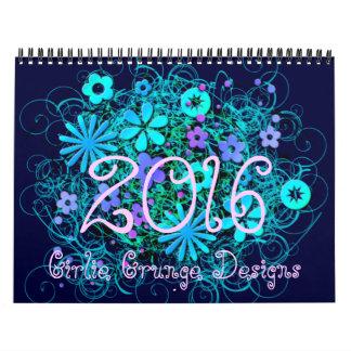 Girlie Grunge 2016 Calendar
