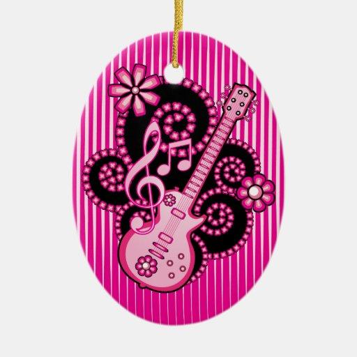 Girlie Guitar Ornaments
