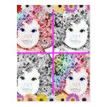 Girlie magnífico Collage.jsj Postal