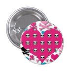 Girlie Punk Rock Hearts and Skulls Buttons
