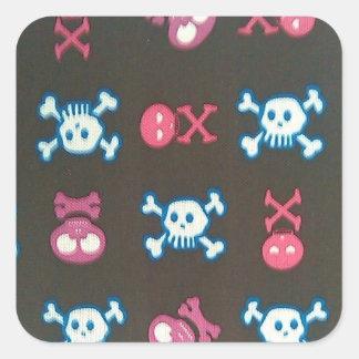 Girlie Punk Square Sticker