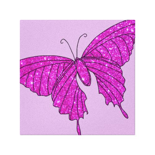 Girlie Purple Pink Sparkle Butterfly Art 2 Canvas Print