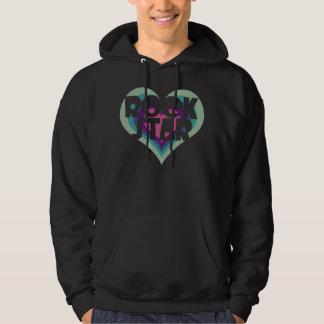 Girlie Rock Star Heart Hooded Sweatshirt