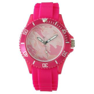 Girlie rosado Camo Reloj De Mano
