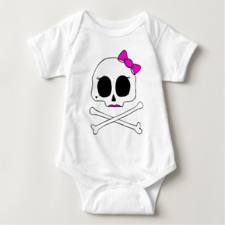 Girlie Skull Baby Baby Bodysuit