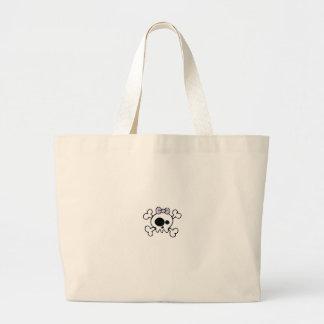 girlie skull jumbo tote bag