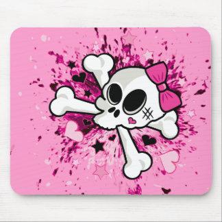 Girlie Skull Mouse Pad