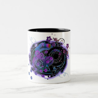 Girlie Swirly Two-Tone Coffee Mug
