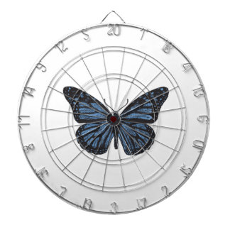 Girlie Vintage Monarch Butterfly Blue Dartboard