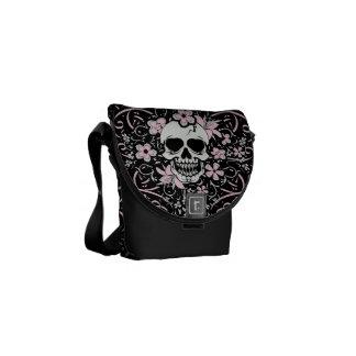 Girlie Vintage Skull Courier Bag