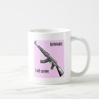 Girlivalist with AK47 Coffee Mug