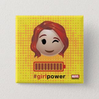 #girlpower Black Widow Emoji Button