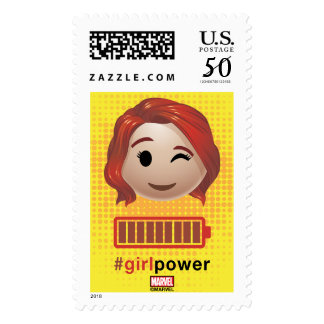 #girlpower Black Widow Emoji Postage
